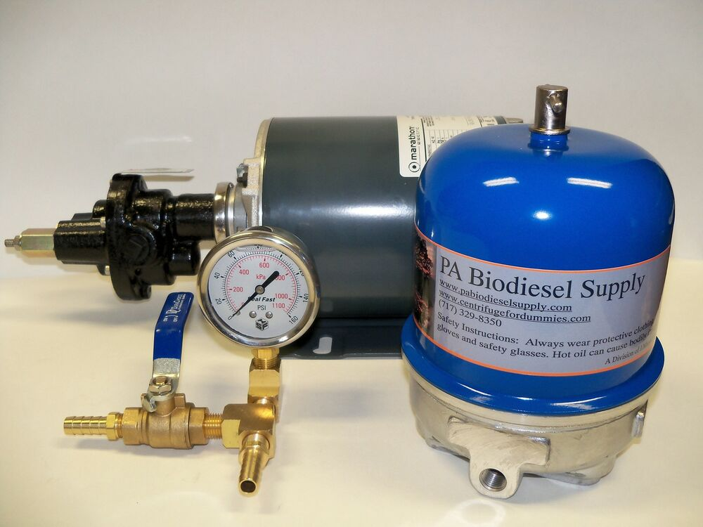 108 Gph Oil Centrifuge Motor Package For Wvo Oil And Biodiesel Ebay