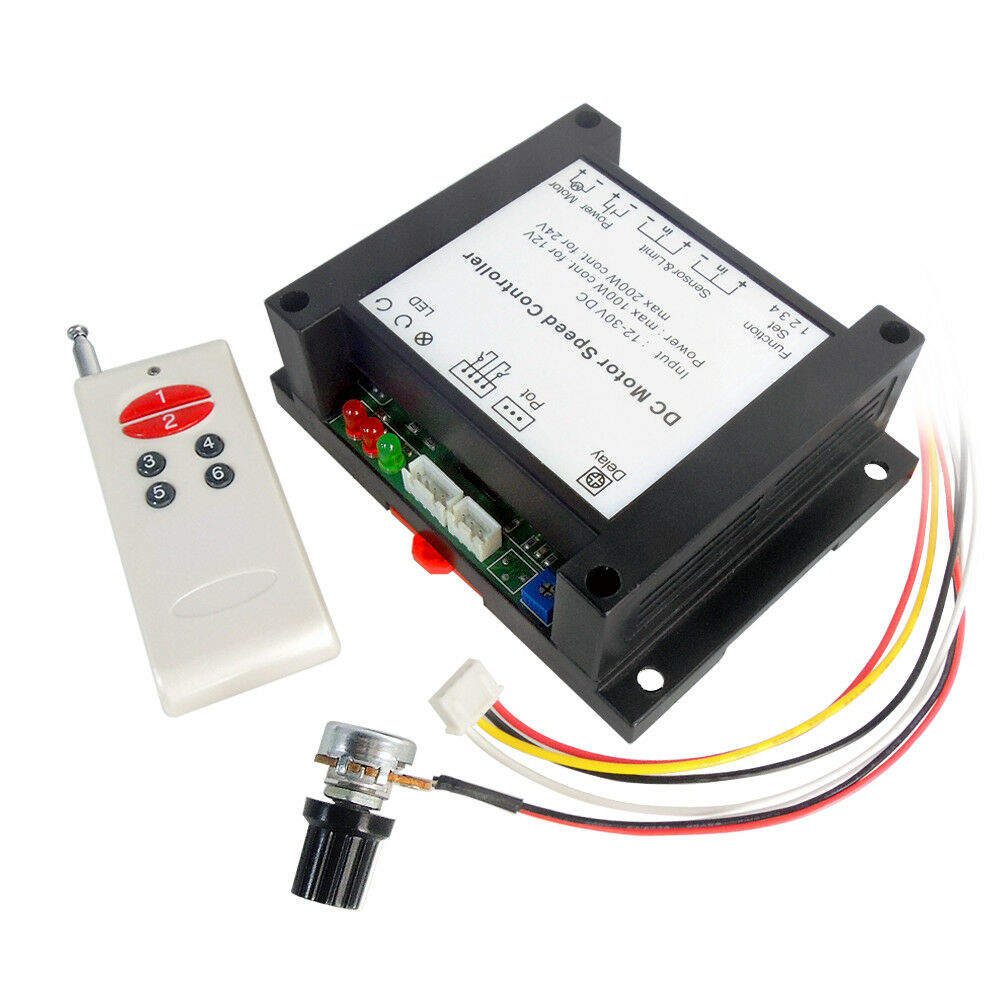 12 30v 200w brushed dc motor speed controller pwm hho rc for Rheostat motor speed control