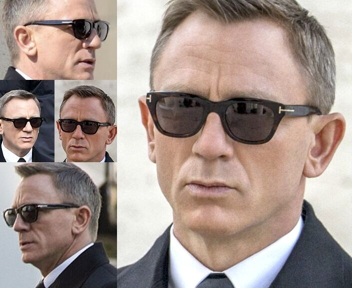 new bond 007 spectre tom ford snowdon black sunglasses 52. Black Bedroom Furniture Sets. Home Design Ideas