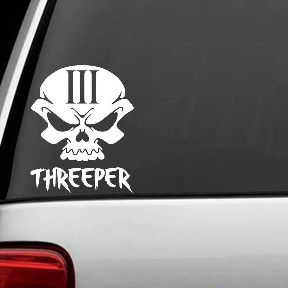 How To Sell A Car In Texas >> H1055 Skull 3% Percent Threeper Decal Sticker Car Truck ...