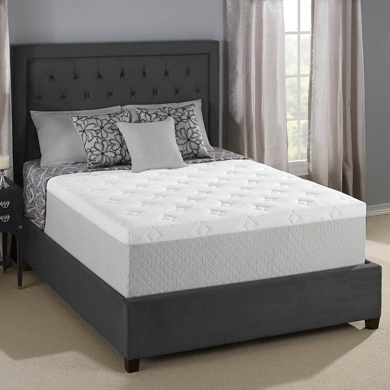 serta cool gel memory foam mattress king size bed bedroom furniture motionless ebay - Serta Bed Frame