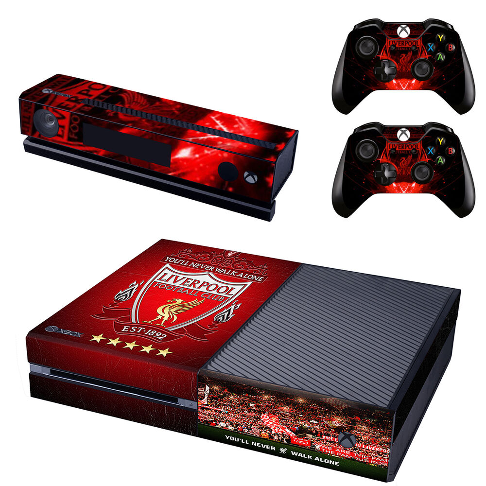 liverpool xbox one vinyl skin sticker decal console 2 controllers brand new ebay. Black Bedroom Furniture Sets. Home Design Ideas