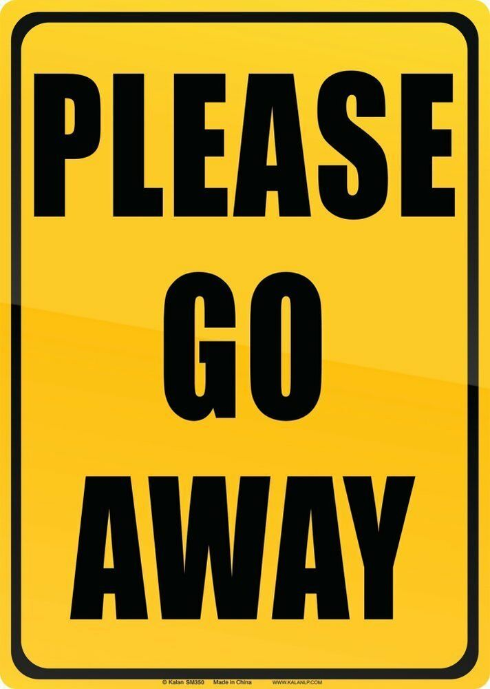 Please Go Away Funny Tin Sign Kids Or Teen Room ...