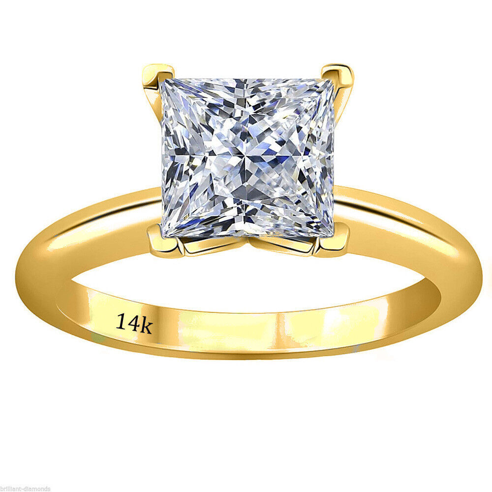 2 15 ct princess cut solitaire engagement wedding ring