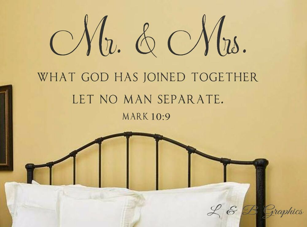 Mr And Mrs What God Has Joined Together Mark 10 9