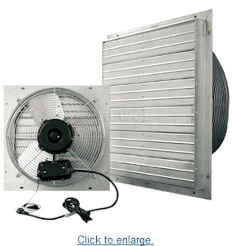 Industrial Exhaust Fans : Garage quot industrial exhaust shutter shop air fan floor
