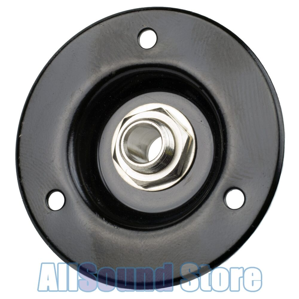 New Black Recessed Amp Jack Plate Steel 2 Quot Round W 1 4