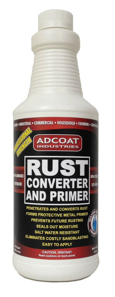 rust converter and primer quart transforms rust into a paintable surface ebay. Black Bedroom Furniture Sets. Home Design Ideas
