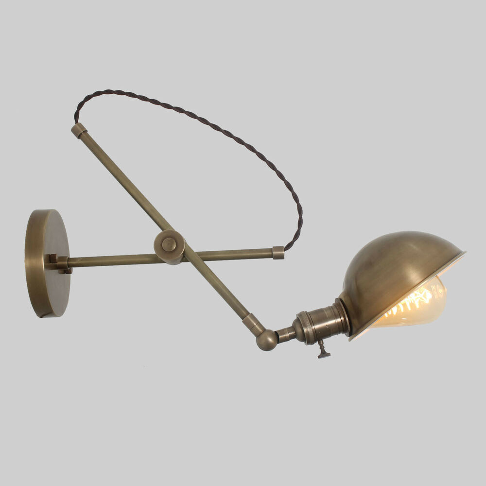 Wall Mounted Extension Lamps : O.C. White Vintage Style Adjustable Wall Mount Extension Boom Light Lamp eBay