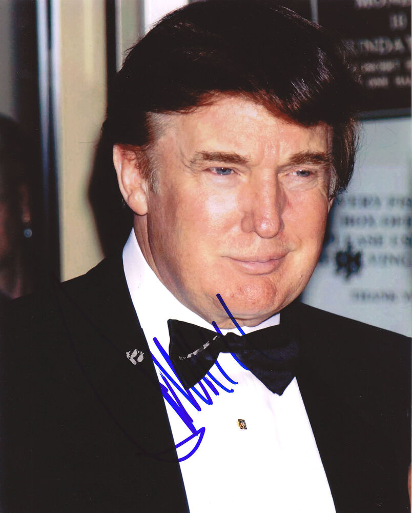 PRESIDENT DONALD TRUMP EARLY HAND SIGNED AUTOGRAPHED PHOTO ...
