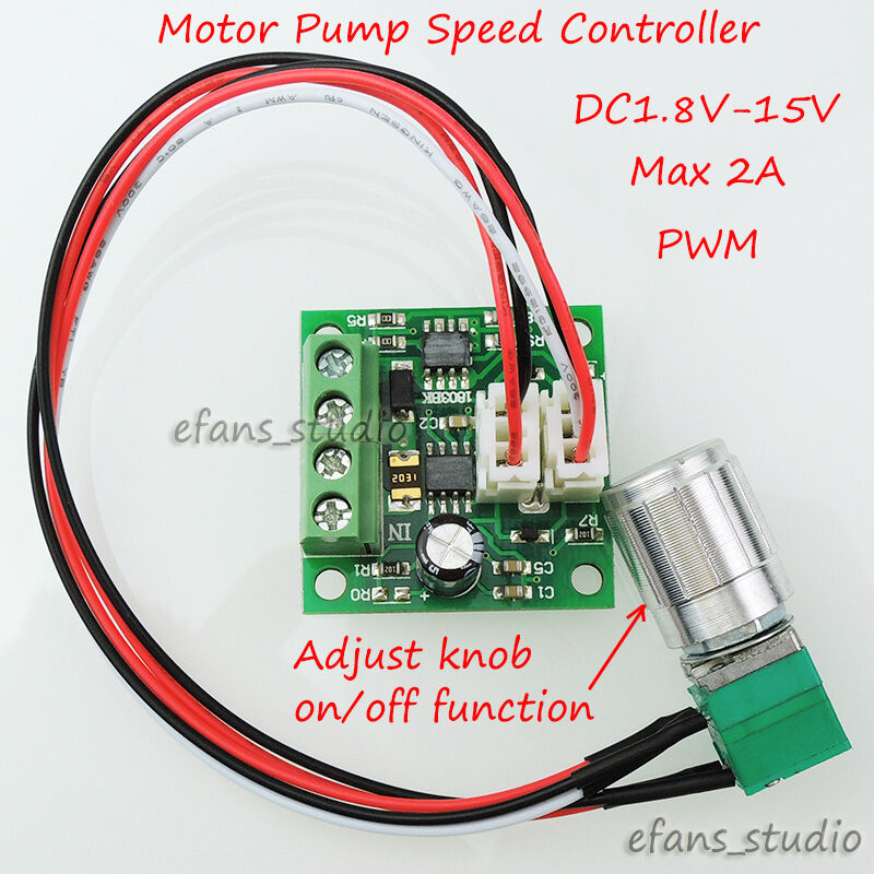 Dc1 8v 3v 5v 6v 12v 2a pwm dc motor speed controller for Low speed dc motor 0 5 6 volt