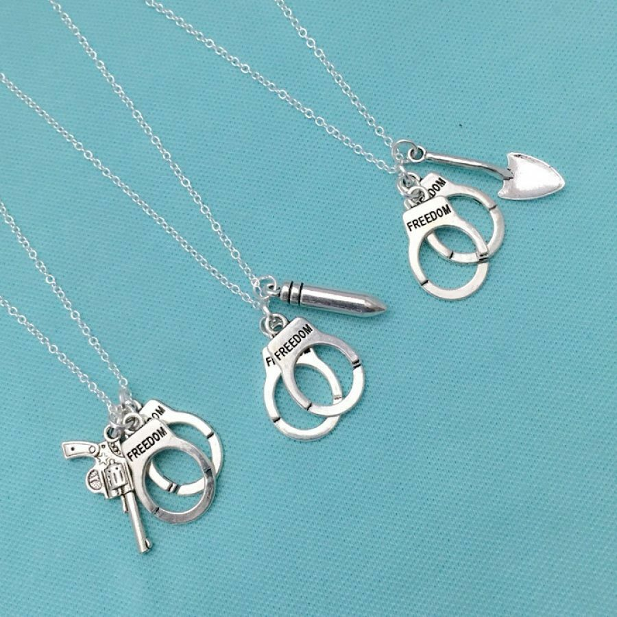 3 partners in crimes necklaces bff or friendship