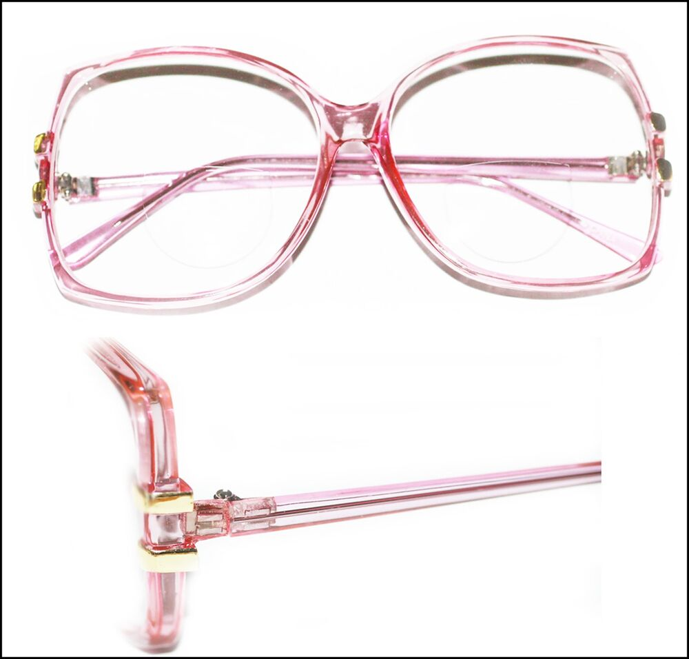 Reading Glasses Large Frame : Super Huge Bifocal Reading Glasses Large Oversize Rose ...