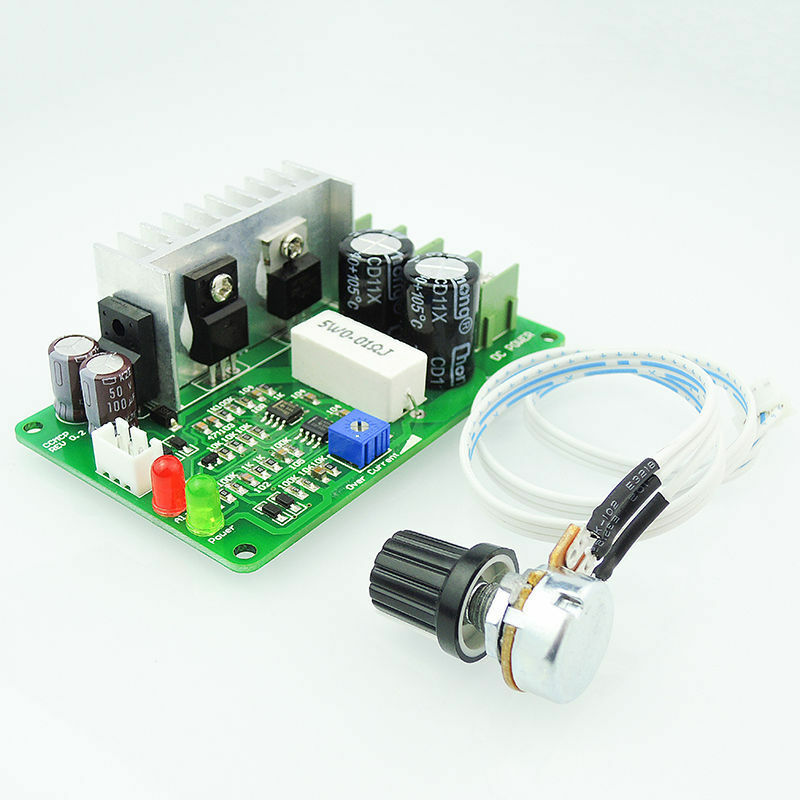 Over current adjustable pwm voltage controller dc 12v 24v for 24v dc motor driver