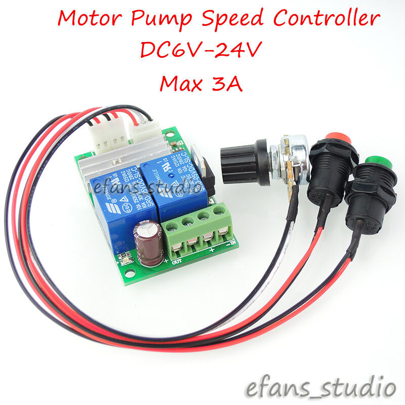 6v 24v 3a pwm dc motor speed control controller pwm for Speed control electric motor