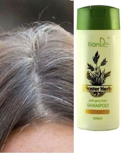 best styling products for gray hair anti grey hair shampoo master herb tiande 420 ml ebay 6174