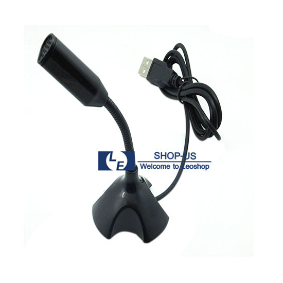 New Usb Mini Desktop Speech Microphone Mic Stand For Pc