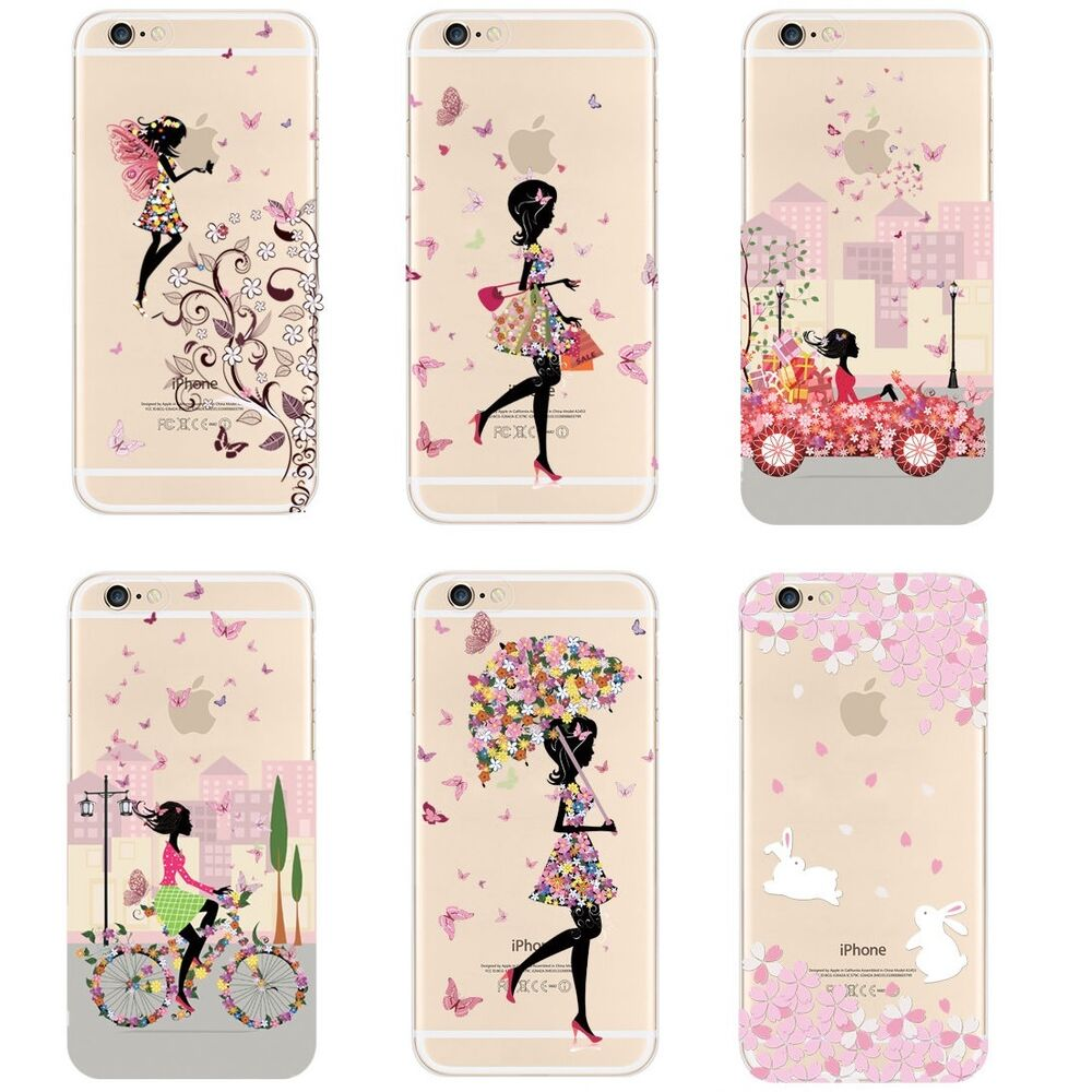 cute iphone 5c cases clear thin fashion print pattern cover for 13931