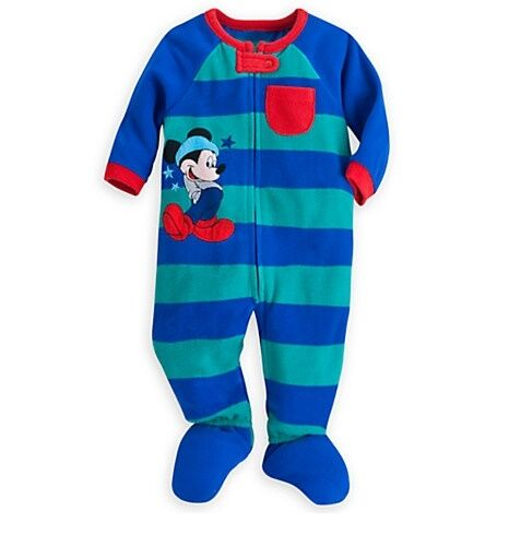 Disney Store Mickey Mouse Baby Sleeper Outfit Boys Size 3