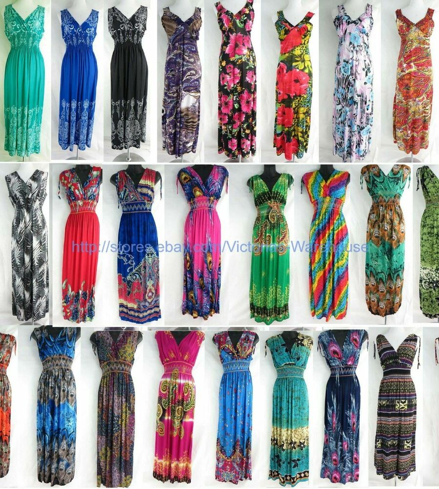 wholesale lot of 10 long dress maxi sundress beach summer ...