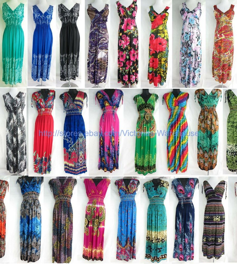 wholesale lot of 20 long dress maxi sundress beach ...