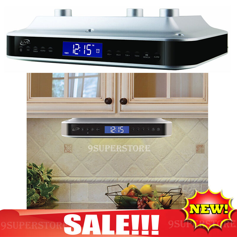 kitchen radio under cabinet bluetooth radio cabinet counter fm clock bluetooth 8404