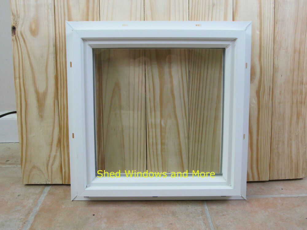Square double pane 16 x 16 window pvc vinyl home tiny for Vinyl insulated windows