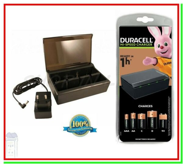 Caricabatterie per Pile Ricaricabili DURACELL CEF22 Universale x AA AAA C D 9v