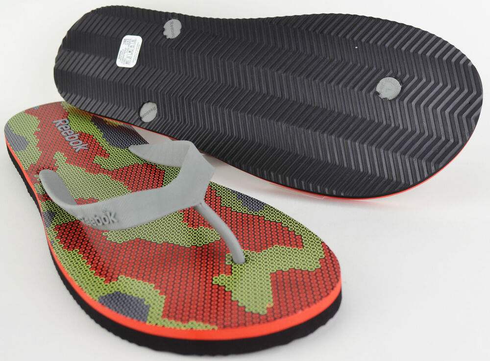 971b3f0074f870 Reebok Mens Black Red Transition Flip Flops V54474 Beach Sandals UK ...