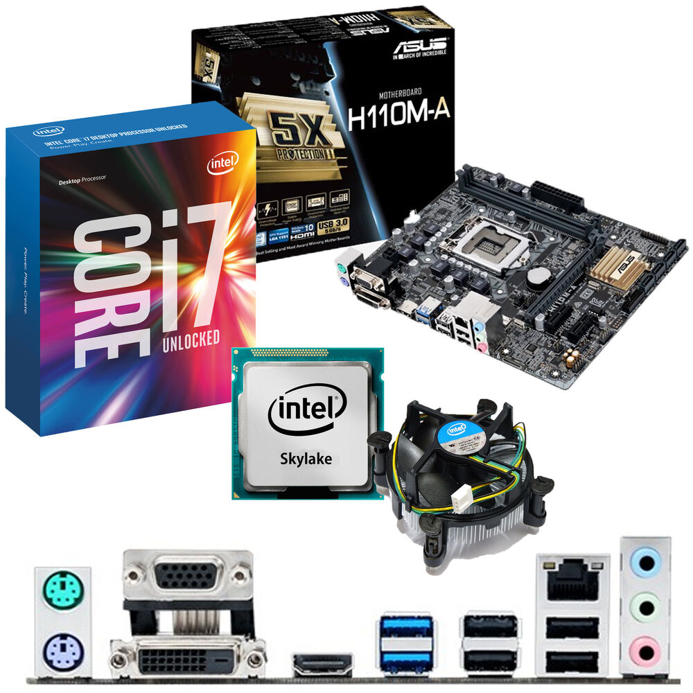 INTEL Core i7 6700K 4.0Ghz & ASUS H110M-A - Motherboard ...