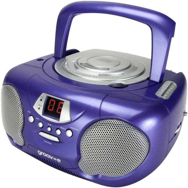 groov e gvps713 classic boombox portable cd player with am. Black Bedroom Furniture Sets. Home Design Ideas