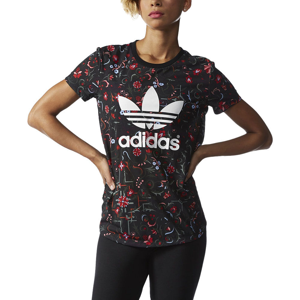 Adidas women s moscow printed tee all over print t shirt for All over printing t shirts