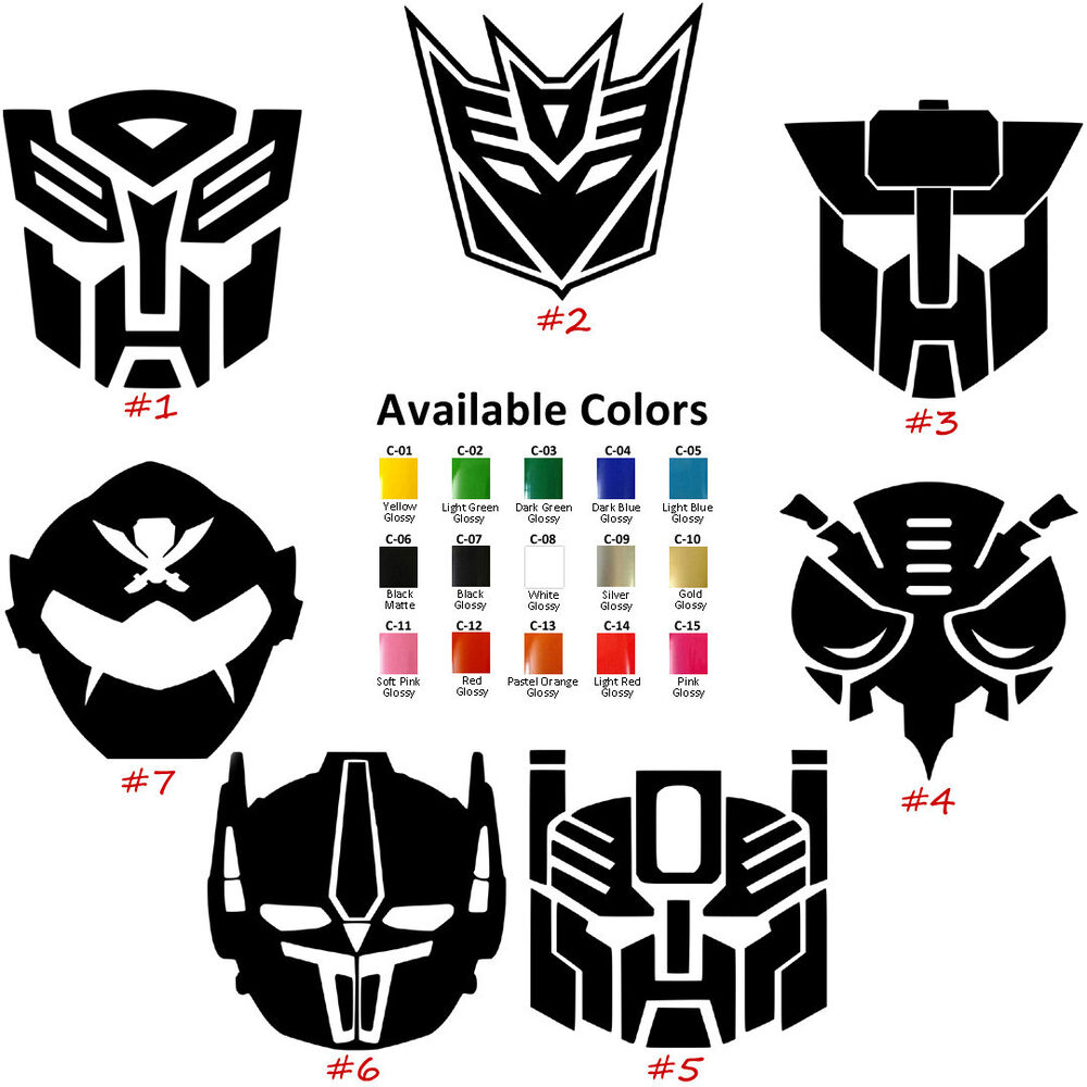 Transformer Logos Vinyl Decal Sticker Car Window Design
