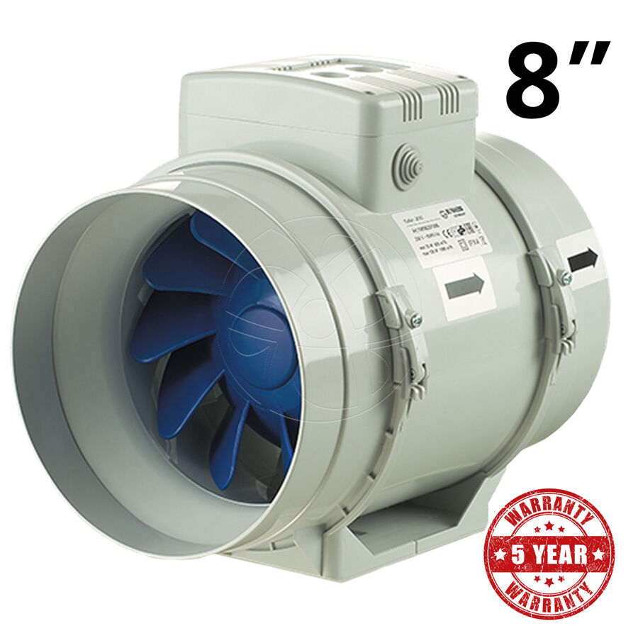 Inline Vent Fans For Bathrooms : Blauberg inline exhaust fan quot mm hydroponic bathroom