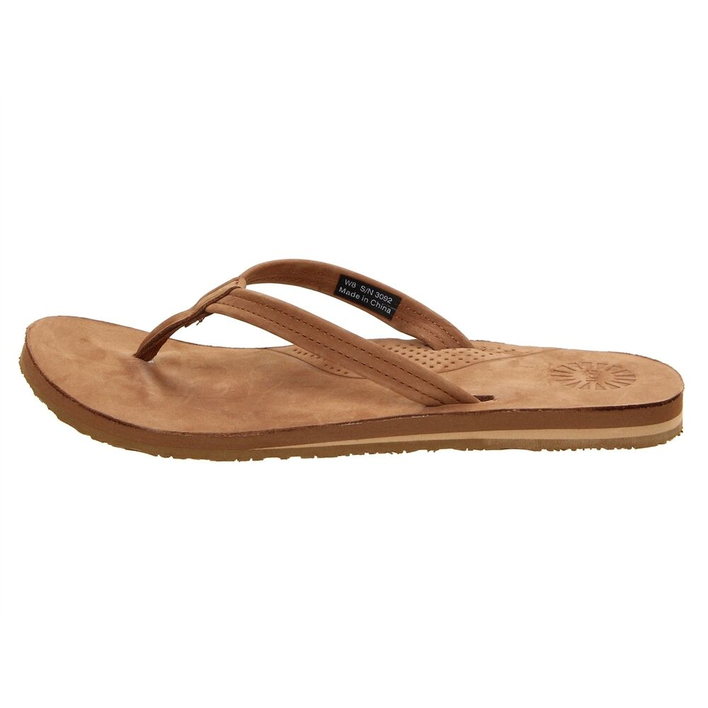 ugg australia kayla chestnut flip flop sandal womens ebay. Black Bedroom Furniture Sets. Home Design Ideas