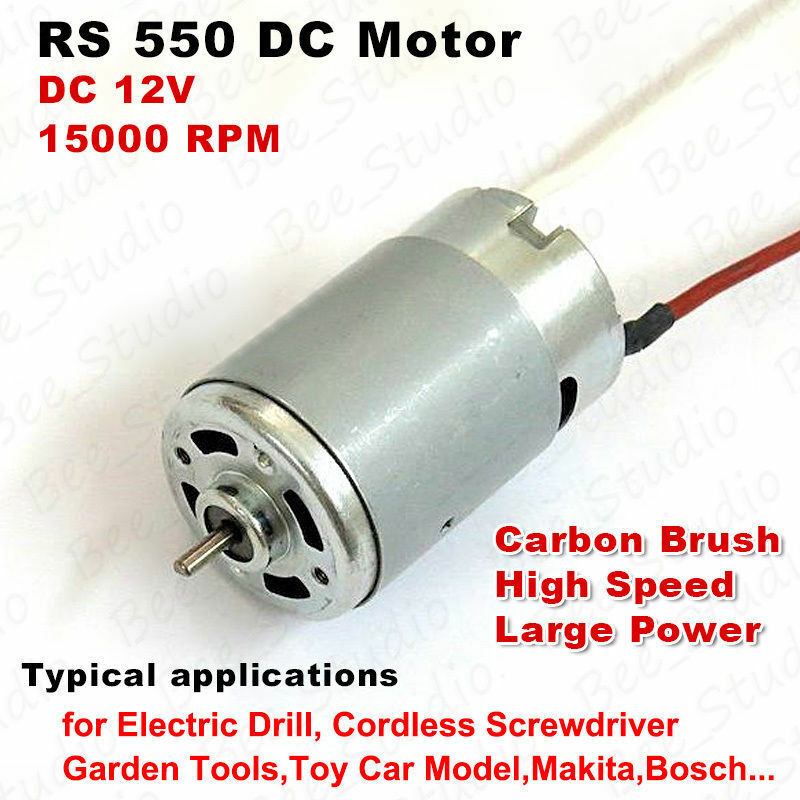 Dc 12v 15000rpm High Speed Large Power Rs 550 Motor For