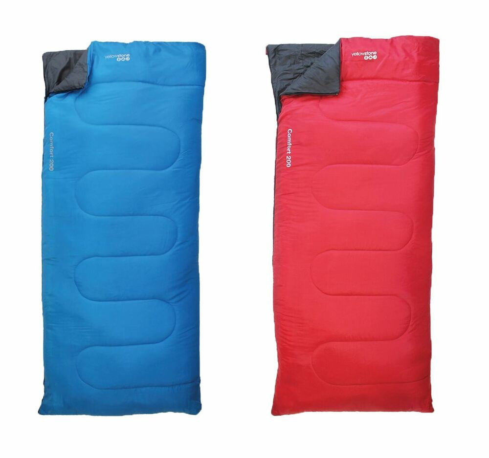 YELLOWSTONE COMFORT 200 ADULT SLEEPING BAGS WATERPROOF ...