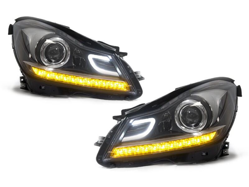 Depo 2012 2014 mercedes benz w204 c class c63 amg style for Mercedes benz c300 headlight bulb