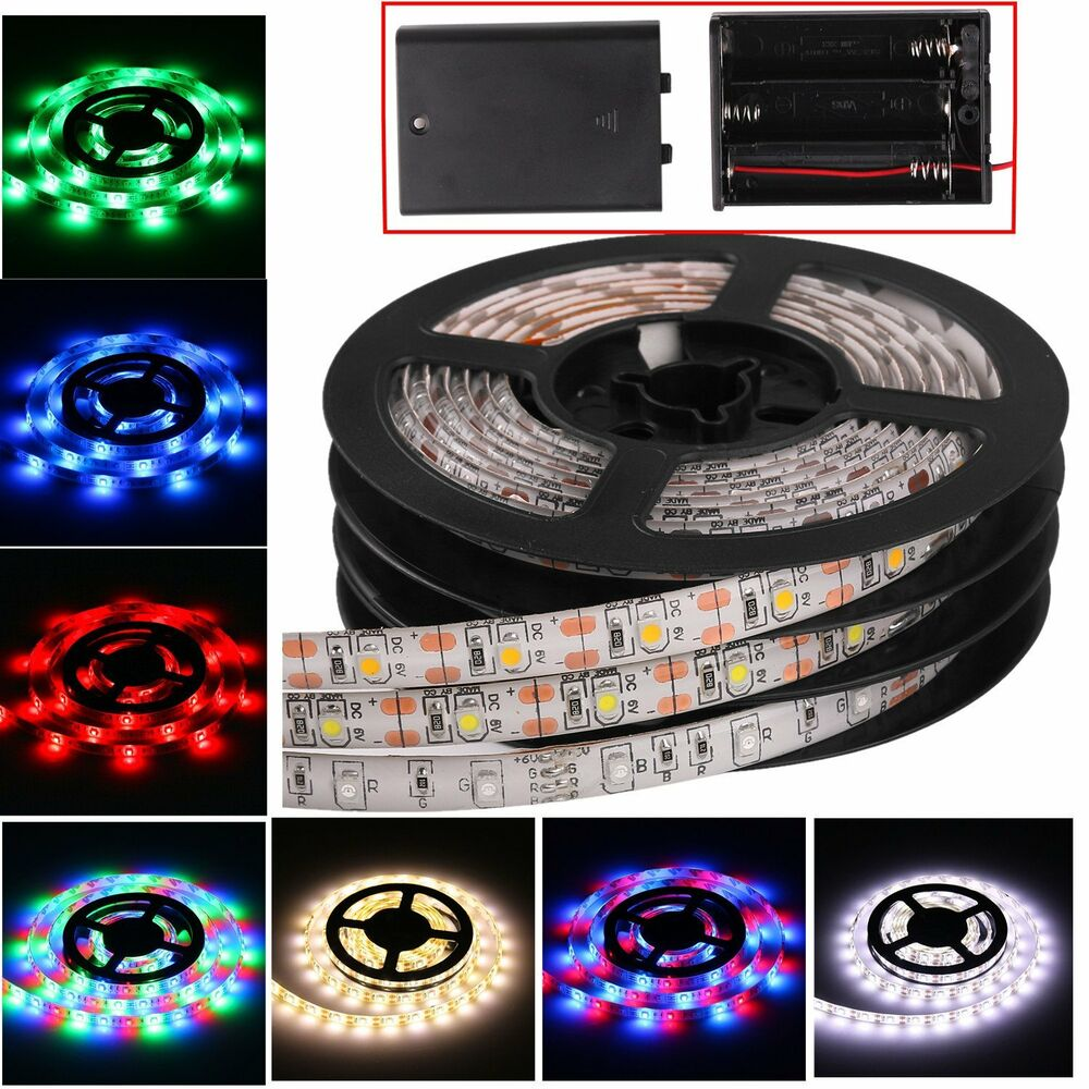 indoor outdoor smd led flexible fairy strip light white rgb lamp battery powered ebay. Black Bedroom Furniture Sets. Home Design Ideas