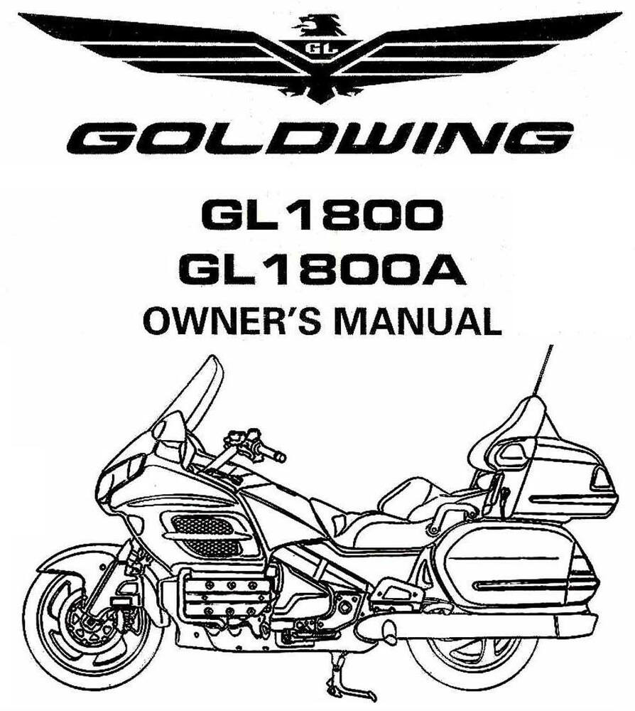 2002 Goldwing 1800 Radio Wiring Diagram Auto Electrical 2003 Honda Gl1800 Gl1800a Motorcycle Owners Manual Gold Wing Ebay 1981 Parts Catalog