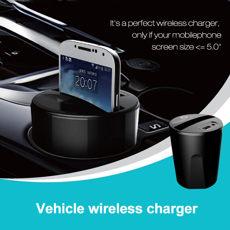 Car Wireless Charger Usb Charging Pad Transmitter Dock For