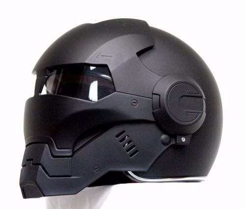casco elmetto black panther iron man motorcycle helmet hero abs auto new m xl ebay. Black Bedroom Furniture Sets. Home Design Ideas