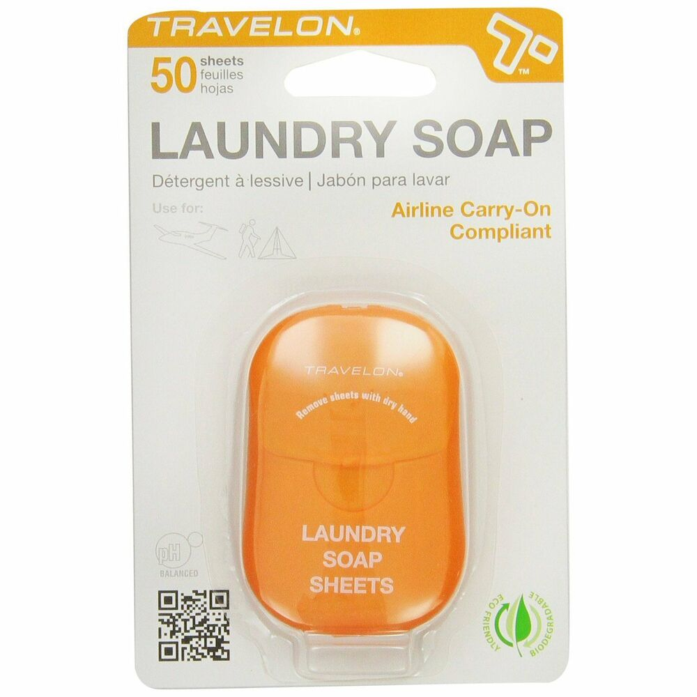 Travelon Laundry Soap Detergent Travel Hygiene Sheets