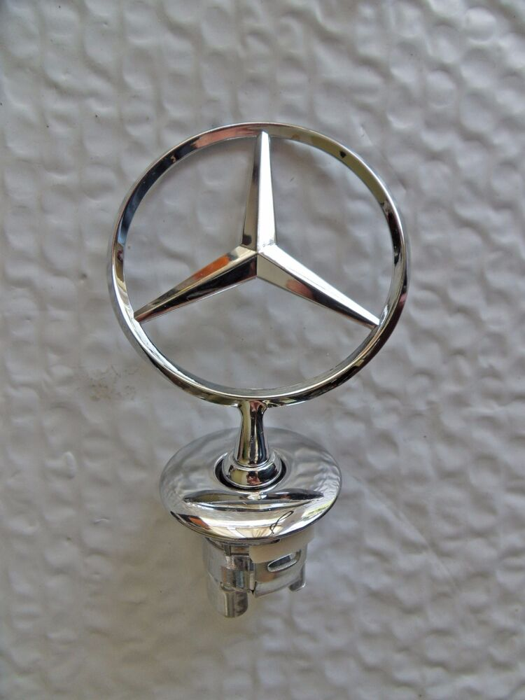 New mercedes benz hood emblem badge star stand up front for Mercedes benz bonnet badge
