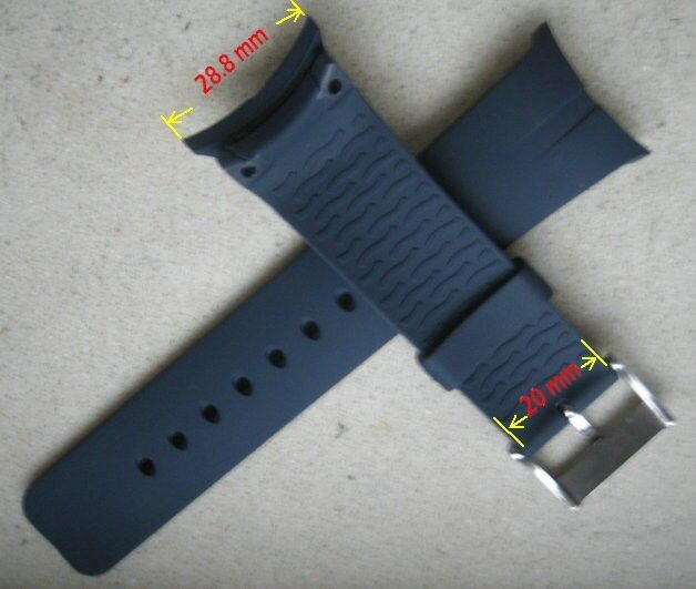 Resin Blue Replace Strap Band Fit/Nautica Watch 28.8mm ...