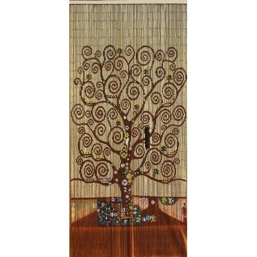 Beaded Door Curtains Bamboo Wall Hanging Drapes Room Divider Beads ...