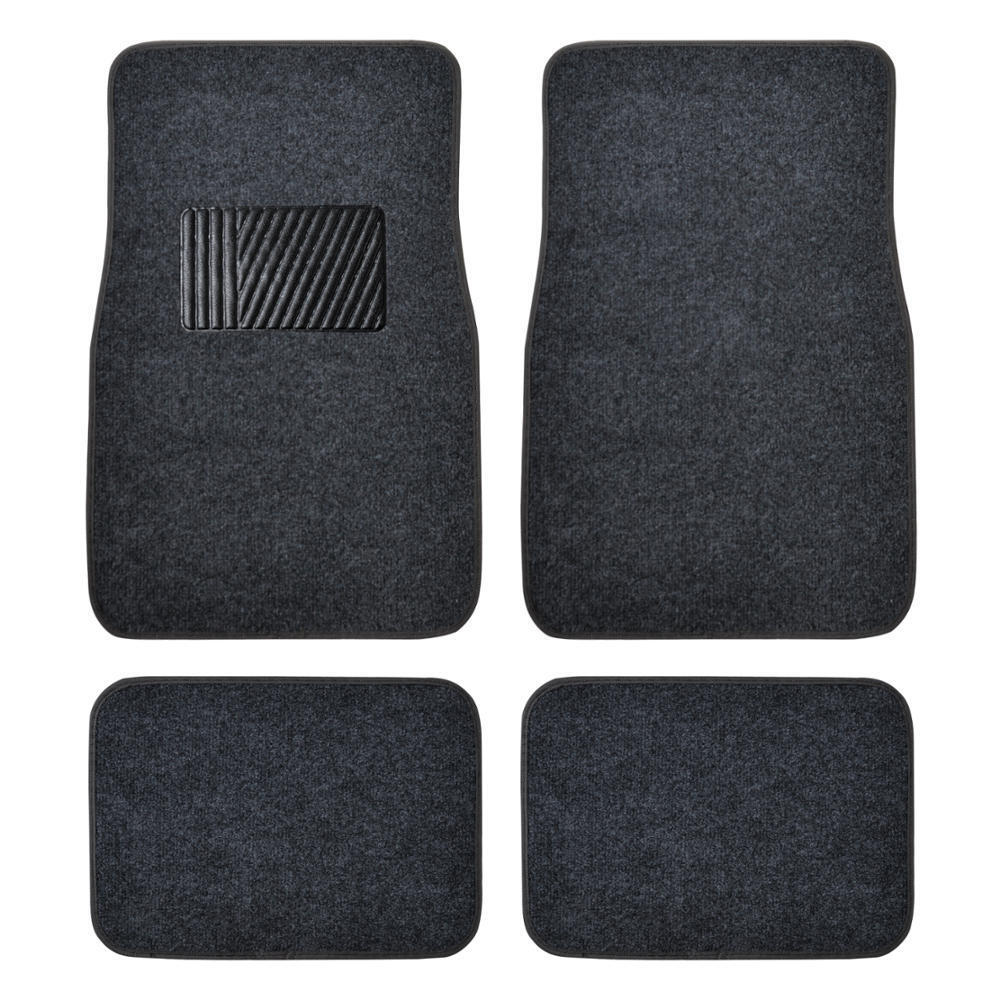 Auto Floor Mats For Car Classic Carpet W Heelpad Dark