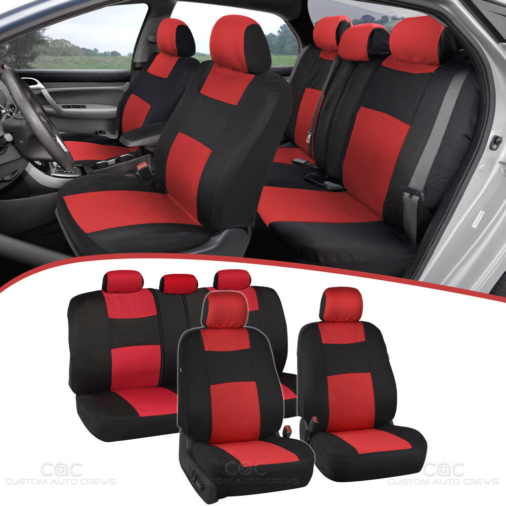 Cherry Red Car Seat Covers