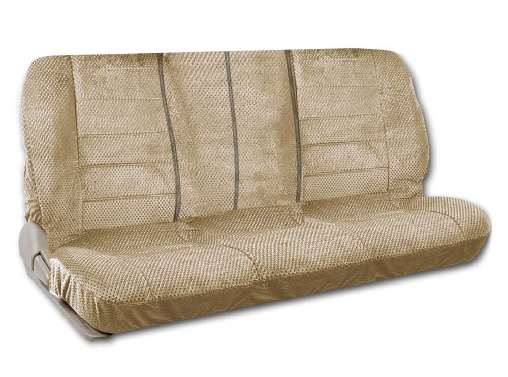 Tan Scottsdale Front Bench Seat Cover Checkered Premium