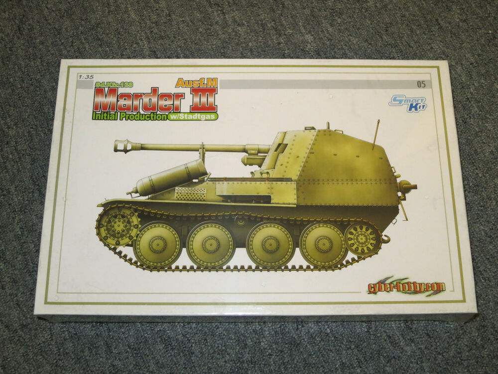 dragon wwii 1 35 sd marder iii int prod w stadtgas 6468 smart kit new ebay. Black Bedroom Furniture Sets. Home Design Ideas